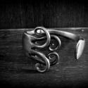 """Alpakka villa """"ne félj!"""", Ékszer, óra, Karkötő, Ezt a karkötőt régi alpakka villából készítettem. Nézegesd meg a többi villa karkötőt a p..., Meska"""