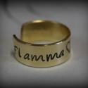 Tavaszi gyűrű egyedi szöveggel, Ékszer, Gyűrű, Vidám, könnyed, színes, őrült, aranyos, mi kell még?!  Mérete állítható, kérésre saját rövid szövege..., Meska