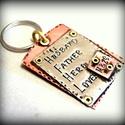 Kulcstartó férfiaknak, Férfiaknak, Ékszer, óra, Medál, Valami apróság tőled-Neki... Ráadásul még használni is lehet, ráakaszthatja a kulcsait:)  Ha akarom ..., Meska