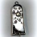 Álmodozó, Ékszer, Medál,  Ezüstből készült ez a különleges medálka, a pici csillag a belsejében viszont rézből van...., Meska