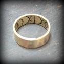 Egyedi gyűrű rovásírással, Ékszer, óra, Gyűrű, Gyűrő rovásírással., Meska