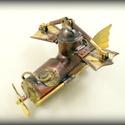 Steampunk repülőgép pendrive, Férfiaknak, Mindenmás, Furcsaságok, Ez egy igazi repülő szerkezet. Szinte hihetetlen, de képes felemelkedni és néhány percig a lev..., Meska