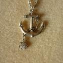 Vasmacskás-halacskás nyaklánc, 3x3 cm-es dekoratív vasmacskás medál 1x1 cm-es ...