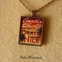 Agatha Christie: Halál a Níluson (réz), Agatha Christie regényének címlapját ábrázol...