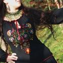 Rábaközi Fehérnép szalagos blúza - fekete HU, Magyar motívumokkal, Ruha, divat, cipő, Női ruha, Blúz, Csillagszemű magyar asszonyok, hölgyek szépségének emelésére készítettük.  Büszkék vagyunk arra, hog..., Meska