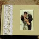 Vintage csók - esküvői könyv, Esküvő, Naptár, képeslap, album, Jegyzetfüzet, napló, Vintage csók - esküvői könyv (K185)  Kézzel, cérnára fűzött üres (fehér) lapokkal készü..., Meska