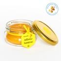 termelői méhviasz mécses × kör formájú lapított, fülecskés üvegben tetővel, Otthon, lakberendezés, Dekoráció, Gyertya, mécses, gyertyatartó, Ünnepi dekoráció, Gyertya-, mécseskészítés, lapított kör formájú, fülecskés üveg mécses tetővel a saját méhviaszunkból..  méretei: 7,5 cm átmér..., Meska