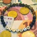 Bitcoin háromszínű ásvány karkötő férfiaknak ónix és jáspis gyöngyökből, Ékszer, Férfiaknak, Karkötő, Ékszer, kiegészítő, Egyedi ajánlat Bitcoin mániásoknak ez a 6 mm-es fekete ónixból és kétféle jáspis ásvány gyöngyből ké..., Meska