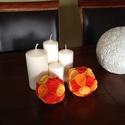 Gömb - sárga narancssárga rózsa, Dekoráció, Otthon, lakberendezés, Karácsonyi, adventi apróságok, Karácsonyi dekoráció, Asztaldísz, Ajtódísz, kopogtató, Mindenmás, A dekorációs termék alapja hungarocell gömb, melyre filcből készült rózsák kerültek. A gömb felhasz..., Meska