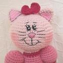 Emma a balerina Cica- rózsaszín horgolt figura, Baba-mama-gyerek, Játék, Plüssállat, rongyjáték, Hímzés, Horgolás, Egyedi, kézi hímzéssel díszített cica balerina. A cipő levehető. Magassága 35 cm. Antik rózsaszín é..., Meska