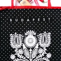Budapest táska - kalotaszegi motívummal , Táska, Magyar motívumokkal, Válltáska, oldaltáska, Szatyor, Varrás, ÚJ kalotaszegi táskák: progresszív-csajos és vagány ! A legletisztultabb, legerősebb motívumok szám..., Meska