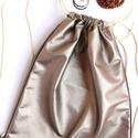 'tobacco' L ' nagy női minihátizsák/válltáska/tornazsák nyers/ törtfehér zsinórral, Táska, Tarisznya, Hátizsák, Varrás,  43 x 35 cm--szuperpraktikus mini hátizsák. Egy igazán izgalmas hybrid, egy  laza minihátizsák, ami..., Meska