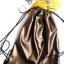 'Chocolate '  'L' műbőr minihátizsák/válltáska/tornazsák , Táska, Tarisznya, Hátizsák, Varrás, L-es méretű, Sötét cappuccino / csokikrém/ sötét bornzos  színűműbőrből készült most ez a nagyon vá..., Meska