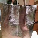 Bronz nőitáska, Táska, Válltáska, oldaltáska, Kellemes bronz színű női táska. vagy bármilyen színben valódi marhabőr női táska melyben zöld  színű..., Meska
