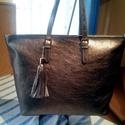 Bronz shopper rendelhető, Táska, Válltáska, oldaltáska, Igazán szép bronz színű valódi marha bőrből készítem ezt a shopper női táskát vagy bármilyen színben..., Meska