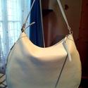 Fehér hobó női, Táska, Válltáska, oldaltáska, A képen látható igényesen kidolgozott fehér női táskát  valódi puha marha bőrből készítem igazánszép..., Meska