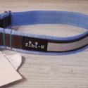 """fibi-N csatos kutyanyakörv, fényvisszaverő barna-kék, Állatfelszerelések, Varrás, Csatos kutyanyakörv szélessége: 3 cm mérete:""""L""""  kb.41-50 cm között állítható  Minőségi kutyanyakör..., Meska"""