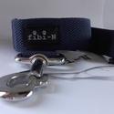fibi-N póráz alapszínű (kék), Állatfelszerelések, Varrás, Póráz szélessége: 3 cm mérete: 120 cm Végén karikával, hogy átcsatolhasd magadon!  Minőségi kutyany..., Meska