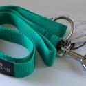 fibi-N póráz alapszínű (zöld), Állatfelszerelések, Varrás, Póráz szélessége: 2 cm mérete: 120 cm Végén karikával, hogy átcsatolhasd magadon!  Minőségi kutyany..., Meska