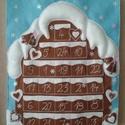 Adventi naptár - Mézeskalács ház, Dekoráció, Ünnepi dekoráció, Karácsonyi, adventi apróságok, Adventi naptár, Az adventi időszak örömét és meghittségét semmi sem teszi tökéletesebbé, mint a családdal együtt töl..., Meska