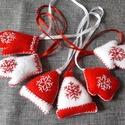 Piros fehér kicsi dísz 6 db, Dekoráció, Karácsonyi, adventi apróságok, Karácsonyi dekoráció, Karácsonyfadísz, Az ár 6 db-ra vonatkozik  Méret: 3,5/4,5/5 cm + 10 cm szalag  A postaköltség tájékoztató jellegű, tö..., Meska