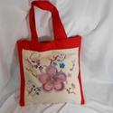 Lila cseresznyevirágok 2.Kézzel festett  egyedi táska, Táska, Válltáska, oldaltáska, Szatyor, Varrás, Festészet, Amint ígértem , cseresznyevirágos téma második darabját van szerencsém bemutatni.Itt az alapom egy ..., Meska