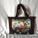 Rajzosok kézzel festett kávés táskája, Táska, Válltáska, oldaltáska, Festészet, Varrás, !Ezt a táskát azok számárak készítettem akik szeretnek rajzolni, sokat járnak mappával, rajzfelszer..., Meska
