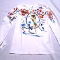 Lirán kézzel festett  egyedi póló rendelő által biztosított darabra., Ruha, divat, cipő, Képzőművészet, Női ruha, Felsőrész, póló, Az élet igazi ünnepe amikor szép előadást láthatunk. Legyen torna, zene színjátszás , vagy bár mi am..., Meska