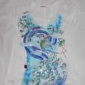 Csiga csiga és Csodapáva ,kézzel festett póló rendelő által biztosított a lapra, Ruha, divat, cipő, Női ruha, Felsőrész, póló, Festészet, Festett tárgyak, FESTÉSRE SZÁNT PÓLÓIMAT RENDELŐIM BIZTOSÍTJÁK!AZ ÁR CSAK A FESTÉSRE VONATKOZIK!Csiga csiga és Csoda..., Meska