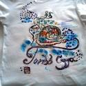 Turbó csiga kézzel festett egyedi póló rendelő által biztosított darabra, Ruha, divat, cipő, Gyerekruha, Kamasz (10-14 év), Festészet, Festett tárgyak, A póló alapanyagát rendelőm biztosította.Igény szerint  én is tudok pólót biztosítani.Kérem tekints..., Meska