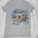 Gazdi kedvence , kézzel festett egyedi póló  , Képzőművészet, Ruha, divat, cipő, Festmény, Textil, Festészet, Festett tárgyak, Kedves Gazdik! Ezt a pólót Nektek ajánlom . Kis kedvenceteket  pólón is meg tudjátok örökíttetni. K..., Meska