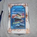 Titanic Kézzel festett kislány póló rendelő által biztosított darabra, Ruha, divat, cipő, Gyerekruha, Gyerek (4-10 év), Kamasz (10-14 év), Festészet, Festett tárgyak, Titanic ! kézzel festett egyedi póló rendelő által biztosított darabra. Egy kislány kérésére készül..., Meska