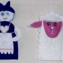 ujjbábok Hol jártál báránykám , Játék, Baba-és bábkészítés, Varrás, A bábok filcből készültek, főleg az óvodás korosztály kedveli, lehet gyűjteni is. gazd\'asszony ma..., Meska