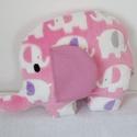 Elefánt formájú párna - Elefánt párna - Elefánt figura - Textil játék - Textil figura, Otthon, lakberendezés, Baba-mama-gyerek, Lakástextil, Párna, Puha, ölelgetni való párnát készítettem babáknak, gyerekeknek. Pihe - puha wellsoft anyagból készült..., Meska