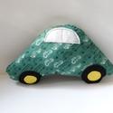 Autó formájú párna - Autós díszpárna - Textil játék -Textil figura - Autós párna - Autó párna - Kisautó, Baba-mama-gyerek, Otthon, lakberendezés, Lakástextil, Párna, Puha, ölelgetni való párnát készítettem babáknak, gyerekeknek. Finom tapintású pamutvászon anyagból ..., Meska