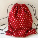 Csillagos hátizsák - Csillagos Tornazsák - Bélelt hátizsák - Bélelt tornazsák - csillagos textil táska - uzsonnás táska, Táska, Hátizsák, Válltáska, oldaltáska, Pénztárca, tok, tárca, Minőségi, finom tapintású pamut anyagból készült ez a tornazsák, vagy hátizsák, mely a zsi..., Meska