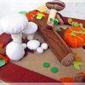 A gombák földjén- asztal dísz