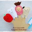 Filc Ujjbáb csomag - Mesés fogacskák, Játék, Szépségápolás, Báb, Egészségmegőrzés, Baba-és bábkészítés, Varrás, 5 db-os filcből készült ujjbáb csomag személyes élmény alapján :) Játékosan is megtaníthatjuk a csö..., Meska