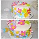 Díszíthető filc torta virágokkal