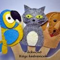 Filc ujjbáb csomag -  Házi kedvencek, Baba-mama-gyerek, Játék, Báb, Készségfejlesztő játék, Baba-és bábkészítés, Varrás, 3 db-os környezetbarát filcből- kézzel készített ujjbáb csomag. Ebben a mini csomagban a házi kedve..., Meska