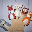 Filc ujjbáb csomag - Az erdő állatai, Baba-mama-gyerek, Játék, Báb, Készségfejlesztő játék, Baba-és bábkészítés, Varrás, Az erdő állatai már várják a tavaszt! A süni ébredezik téli álmából, mocorog a lomb paplan alatt. A..., Meska