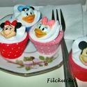 Mickey egér és barátai játék süti szett, Játék, Baba, babaház, Játékfigura, Készségfejlesztő játék, Varrás, Játékkonyhák nélkülözhetetlen kelléke a figurás cupcake szett. Mickey és Minnie, Donald és Daisy Ig..., Meska
