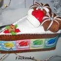 Karácsonyi játék torta szett, Dekoráció, Játék, Baba, babaház, Játékfigura, Varrás, Játékkonyhák nélkülözhetetlen ünnepi kelléke a torta szelet szett. Bátran ajánlom mikulás csomagba ..., Meska