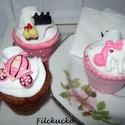 Hercegnős játék süti szett, Játék, Baba, babaház, Játékfigura, Készségfejlesztő játék, Varrás, Igazi kis hercegnőknek szánom ezt a cupcake készletet. A szett 3 db cupcake-et tartalmaz. Rajtuk tö..., Meska