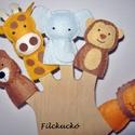 Filc ujjbáb csomag -  Állatkerti cimborák, Játék, Báb, Készségfejlesztő játék, Játékfigura, Baba-és bábkészítés, Varrás, 5 db-os környezetbarát filcből- kézzel készített ujjbáb csomag. Kitűnő játék hosszabb utazásokhoz. ..., Meska