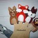 Filc ujjbáb csomag - Az erdő állatai Őzzel, Játék, Báb, Készségfejlesztő játék, Játékfigura, Baba-és bábkészítés, Varrás, Lessük meg az erdő állatainak titkos életét. Amott egy mókus fut át egy faágon. Szájában egy tavaly..., Meska