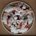 Unikornisos kiságyforgó (színes), kiságy forgó, Játék & Gyerek, 3 éves kor alattiaknak, Kiságyforgó, Varrás, Gyapjú filcből készült, kézzel varrott, egyedi unikornisos kiságyforgó. Méretei: Karika átmérője - ..., Meska