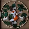 Rókás kiságyforgó, Játék & Gyerek, 3 éves kor alattiaknak, Kiságyforgó, Varrás, Hímzés, Gyapjú filcből készült, kézzel varrott, egyedi rókás kiságyforgó.  Méretei: Karika átmérője: 26 cm ..., Meska