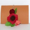 Virágos hajgumi, Ruha, divat, cipő, Hajbavaló, Hajgumi, Színes virágos hajgumi.  A virágok mérete: 10x6cm, Meska