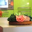 KAKTUSZOS dekoráció, Dekoráció, Dísz, Asztali dekoráció színes kaktuszokkal.  Átmérő: 14 cm, Meska